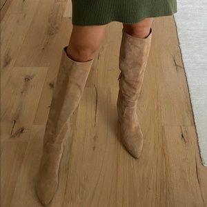 Sam Edelman Hai High Knee Boots in Camel Suede 8.5
